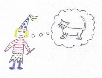 """Titelbild des Büchleins """"Hexe Nele wünscht sich eine Katze"""""""