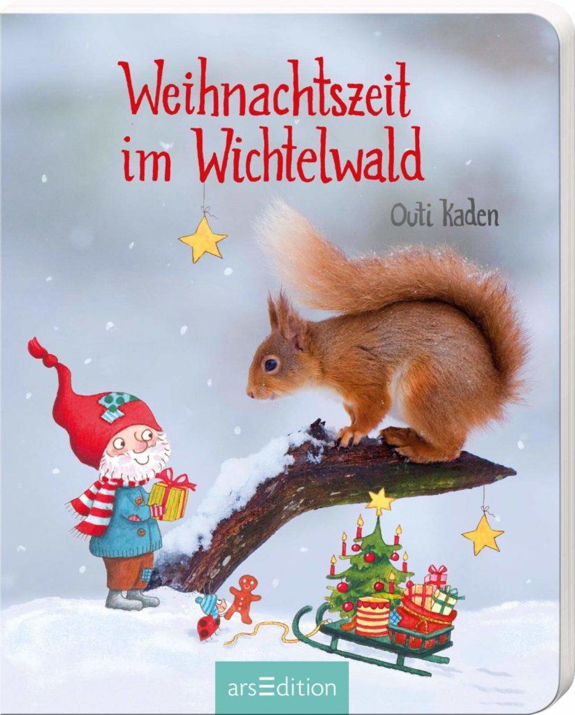 Pappbilderbuch für Kinder ab 2 Jahren: Weihnachtszeit im Wichtelwald