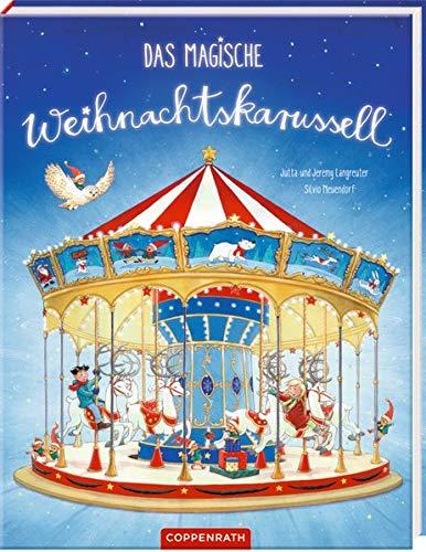 Bilderbuch mit Glitzer auf dem Cover: Das magische Weihnachtskarussell