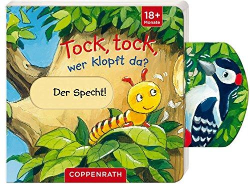 Pappbilderbuch mit Schiebe-Elementen: Tock, tock, wer klopft da?