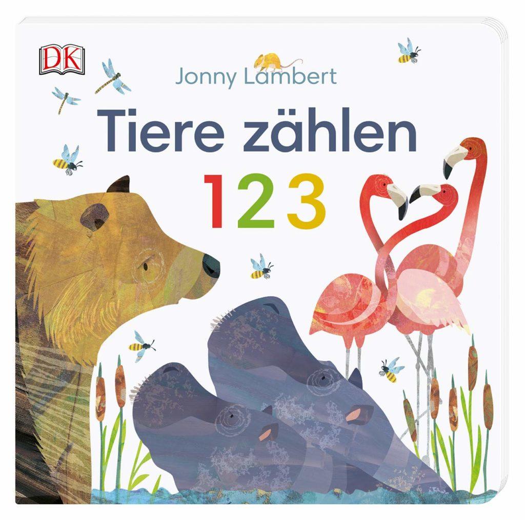 Bilderbuch mit Pappseiten: Tiere zählen 1 2 3 von Jonny Lambert
