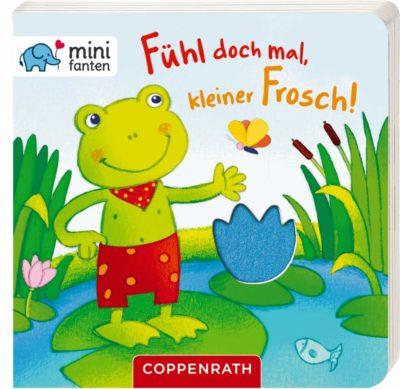Pappbilderbuch mit Filzklappen: Fühl doch mal, kleiner Frosch!