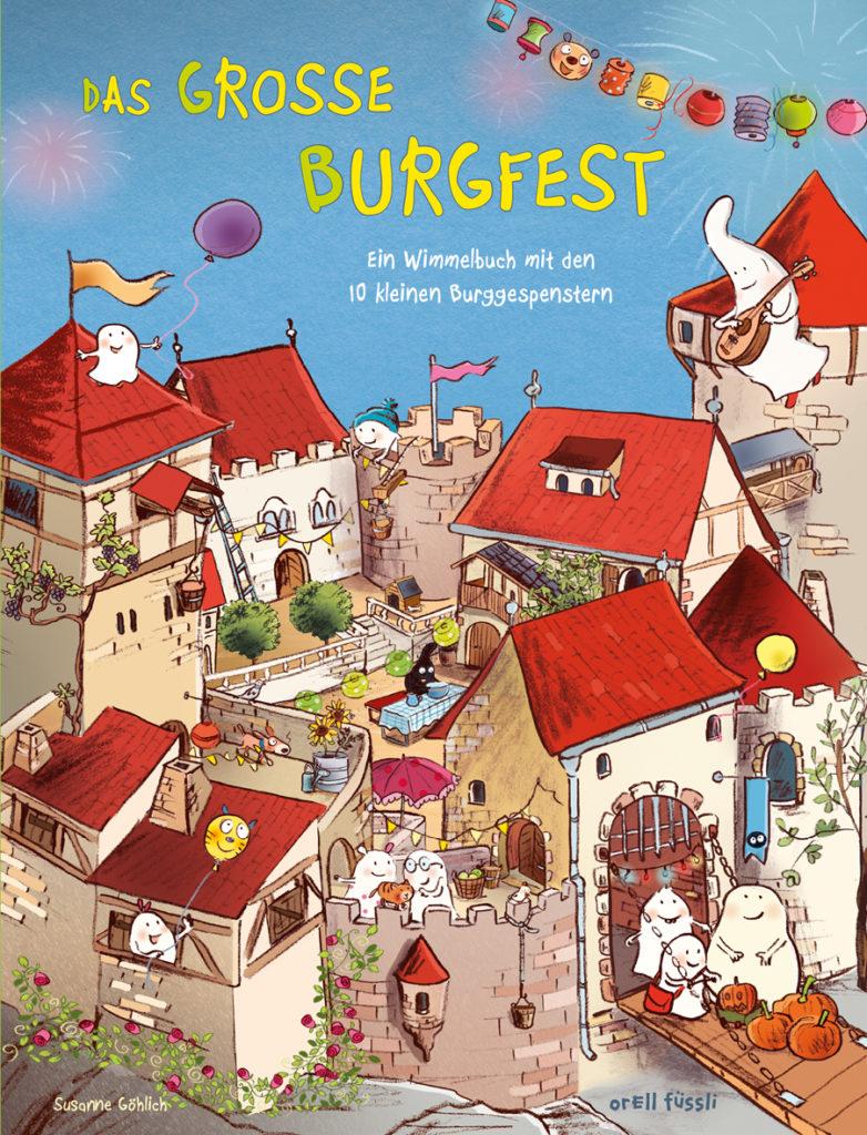 Wimmelbuch mit den 10 Gespenstern: Das große Burgfest