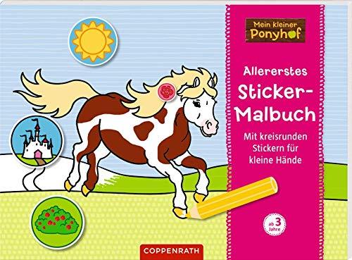 Mein kleiner Ponyhof: Allererstes Sticker-Malbuch
