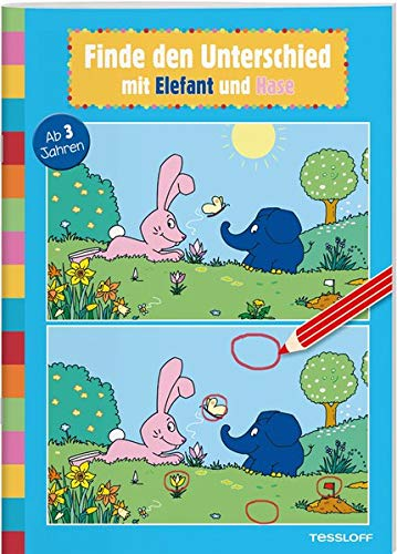 Finde den Unterschied mit Elefant und Hase