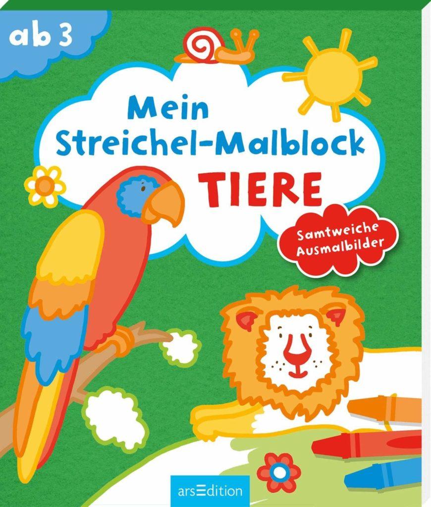 Mein Streichel-Malblock: Tiere