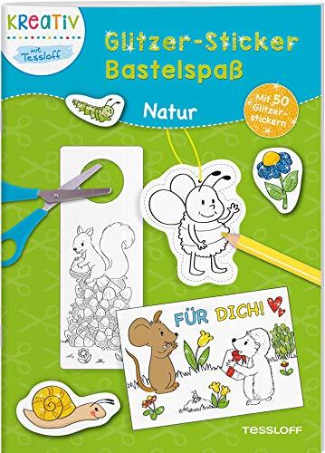 Glitzer-Sticker-Bastelspaß - Natur