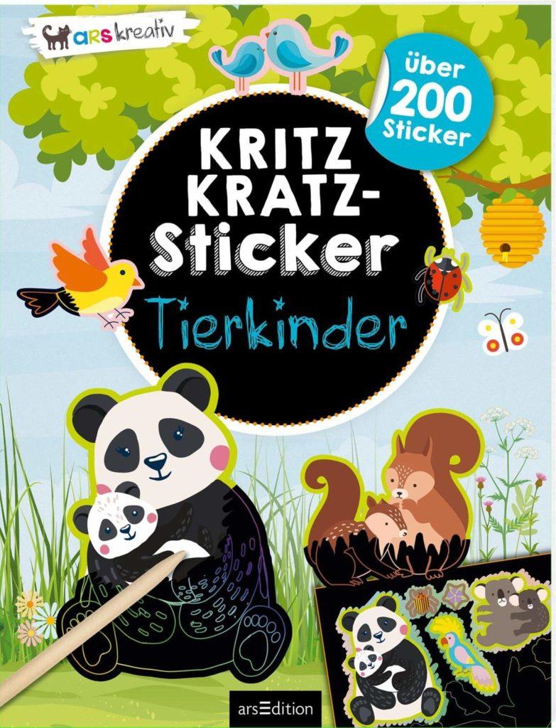 Sticker und Kritzeln: Kritzkratz-Sticker: Tierkinder