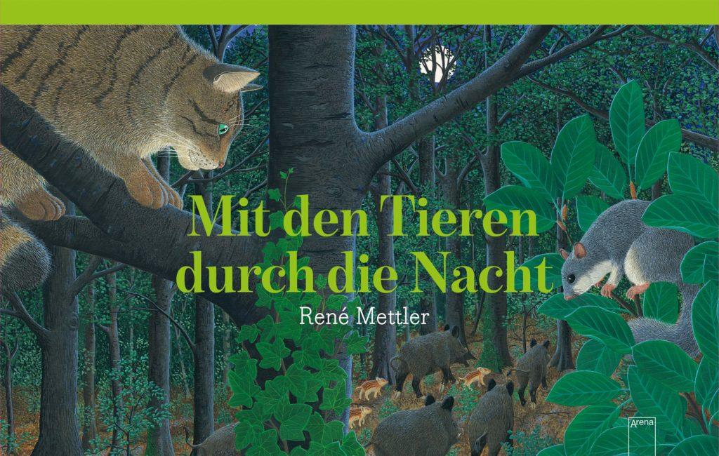 Bilderbuch für Kinder ab 4 Jahren: Mit den Tieren durch die Nacht